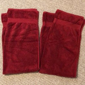 Other - Two red bath towels
